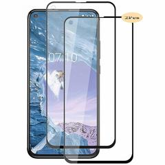 [2-PACK] For Nokia X71 Nokia 6.2 [Tempered Glass] [Full Screen Glue Cover] Screen Protector black for Nokia x71