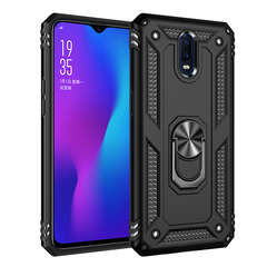 Phone Case for OPPO R17 [Drop-protection] with Car Magnetic Ring Holder black for OPPO R17