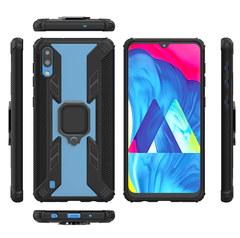 Phone Case for Samsung Galaxy M10 Galaxy A10 [Drop-protection] with Car Magnetic Ring Holder black for Samsung Galaxy M10
