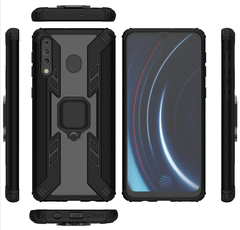Phone Case for Samsung Galaxy M30 [Drop-protection] with Car Magnetic Ring Holder black for Samsung Galaxy M30