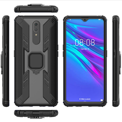 Phone Case for OPPO F11 OPPO A9 [Drop-protection] with Car Magnetic Ring Holder black for OPPO F11