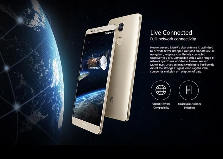 Refurbished Smartphone Huawei Mate 7 3GB+32GB -6''13+5 MP- Double SIM-4100mAh smartphone silver 2g+16g 4