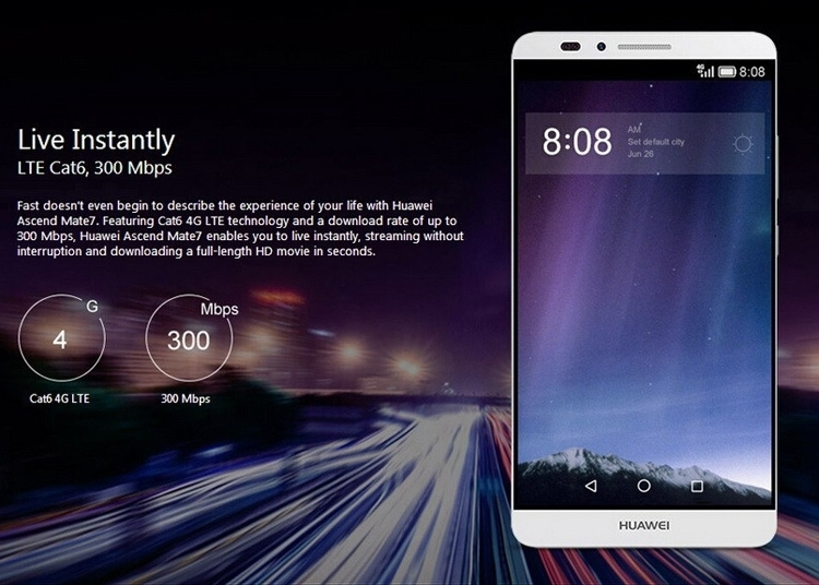 Refurbished Smartphone Huawei Mate 7 3GB+32GB -6''13+5 MP- Double SIM-4100mAh smartphone silver 2g+16g 3