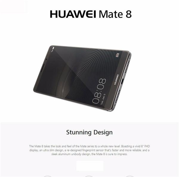 Refurbished phone Huawei Mate 8 +3+32GB -6''screen16+8 MP- Double SIM-4000mAh smartphone silver mokakin  golden 4GB+64GB 8