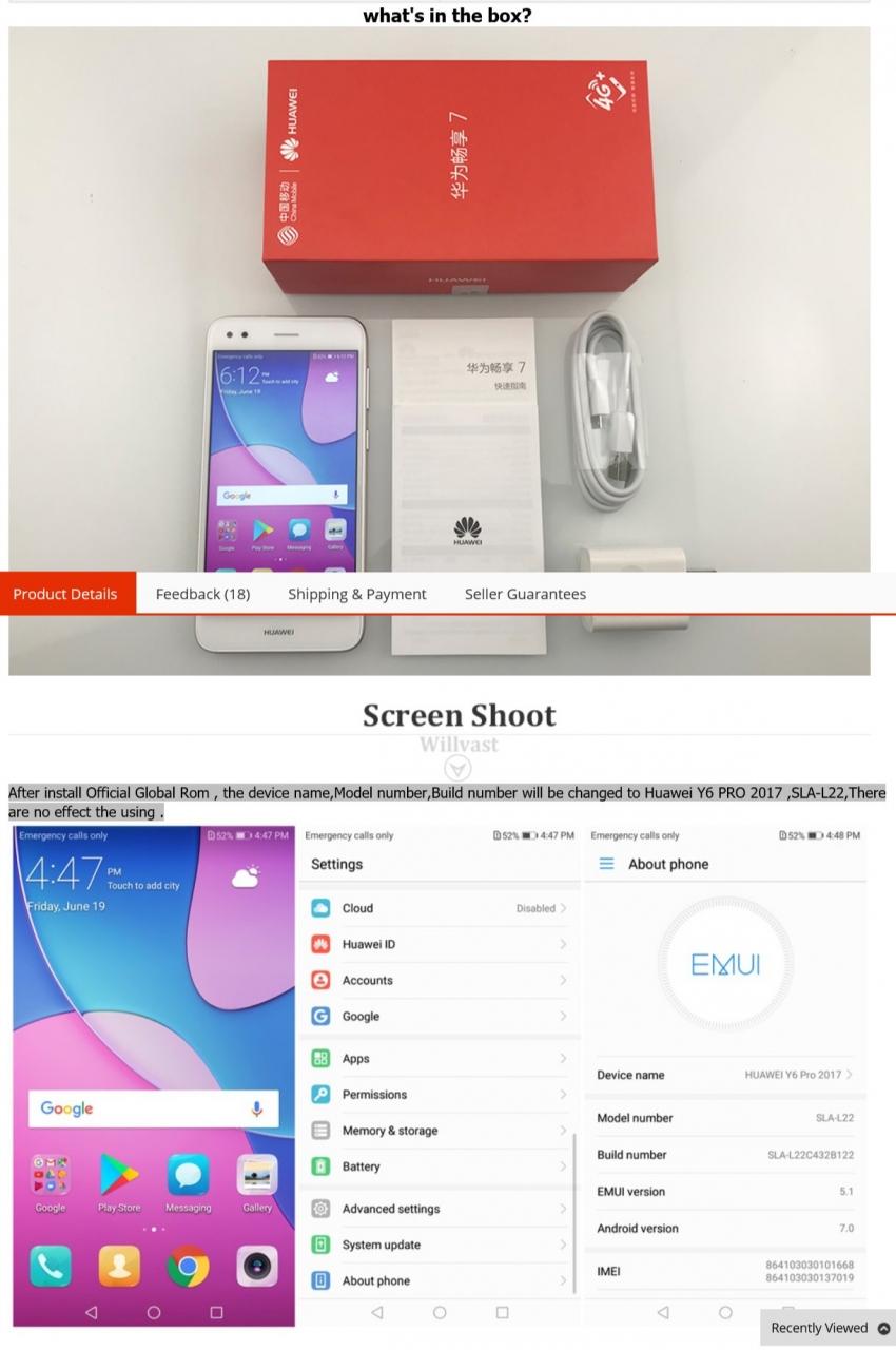 Refurbished Huawei Nova lite 3GB 32GB Enjoy 7 phone Octa core 5 0''Android  7 0 3020mAh 5 0+13 0MP blue 3GB+32GB