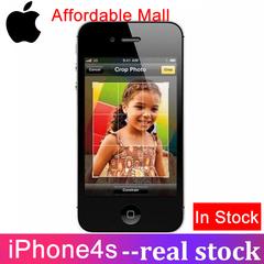 Refurbished Original iPhone 4S-3.5''screen 512M RAM+8GB / 16GB/32GB ROM Unlocked Smartphone 95% New black  16GB