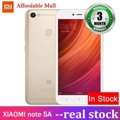 Refurbished XIAOMI redmi note 5A 3GB+32GB  5.5''screen 13mp+5mp  MIUI9  Adreno308 smartphone gold 3gb+32gb