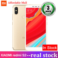 Certified Refurbished :XIAOMI redmi S2 4GB+64GB 17mp+16mp three cameras 5.99''screen Android 8.1 golden 4gb+64gb