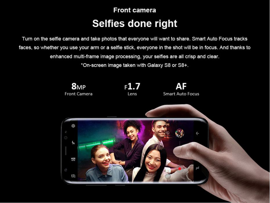 Refurbished Samsung Galaxy S8 Plus 64GB ROM+4GB RAM 6.2