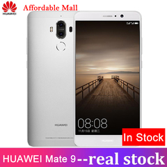 Refurbished HUAWEI Mate9 -5.9'' Screen-4GB+32GB-Double 12MP+20MP+8.0MP-Double SIM-Smartphone silver 32GB