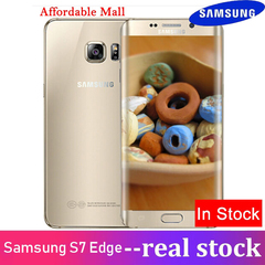 Refurbished Samsung Galaxy S7 Edge Smartphone  G9350 Dual SIM 12.0 MP 4GB RAM 32GB/64GB ROM Single SIM  golden 4GB+32GB