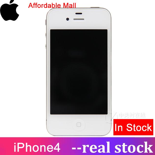 Refurbished iPhone 4 iPhone4  Smartphone Iphone 4  512M RAM  8GB/16GB ROM  Apple unlocked apple white   8GB