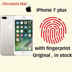Refurbished iPhone 7 plus iphone 7plus  iOS 3GB+32GB 2400MP+700MP With Fingerprint apple silver 3gb+32gb