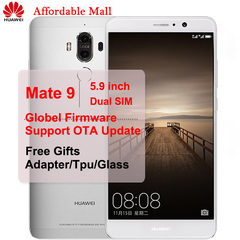 Global Version New   Huawei Mate9 Mate 9-5.9''screen 4GB+32GB/64GB-Dual SIM 20MP+8.0MP Smartphone silver 4GB+32GB