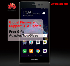 Global Firmware Refurbished  HuaWei Ascend P7 4G LTE 2GB RAM 16GB ROM 13.0MP Dual  Smartphone black  2GB+16GB