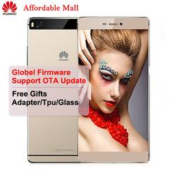 Global Firmware Refurbished Huawei P8 Smartphone 3GB+16GB/64GB 5.2'' 13MP+8MP 4G LTE Double SIM golden 16GB
