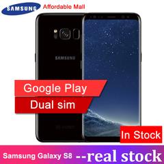 Refurbished Samsung Galaxy S8 Dual SIM Smartphone 5.8''Inch full screen 4GB RAM 64GB ROM Android Dual SIm black 64GB