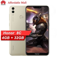 Refurbished HUAWEI Honor 8C 6.26-inch  (4GB, 32GB)15MP + 8MP   Android 8.1  Face ID  Smartphone gold