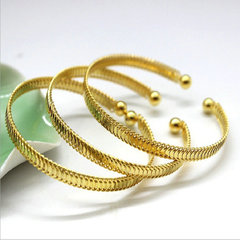 New 1 pcs Imitation Gold Bracelet Fashion Accessories Jewellery For Gift gold one size