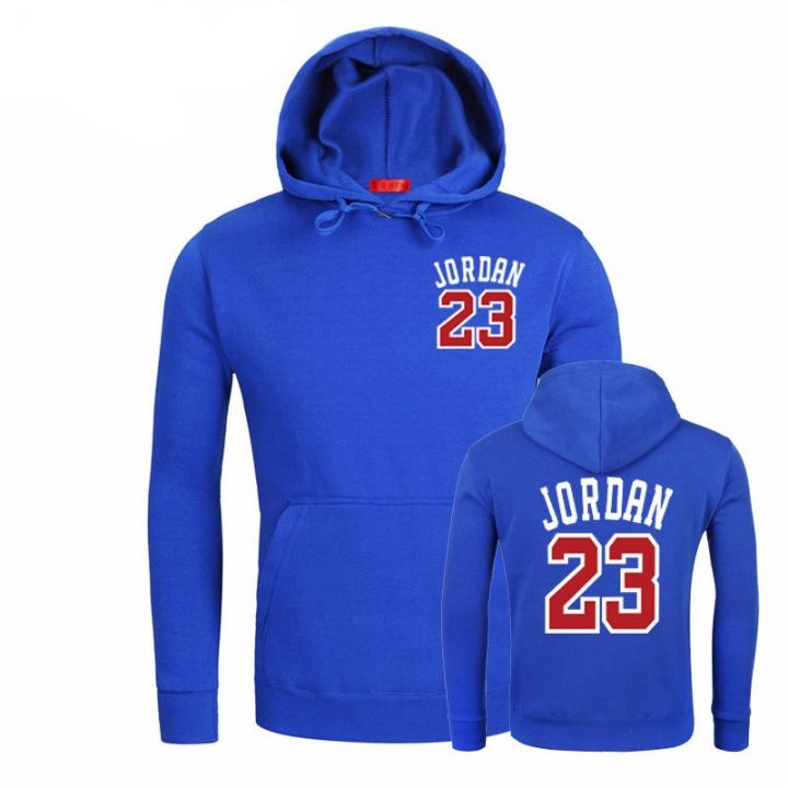 a2281f25df7e19 Men s sports sweater Jordan 23 print sweate Hoodie Sports Series Jordan  Fashion 01 BLUE XXL