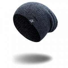 Modern design Silk Men's and women's knitted hats Keep warm fashion Popular  K7981 blue one size