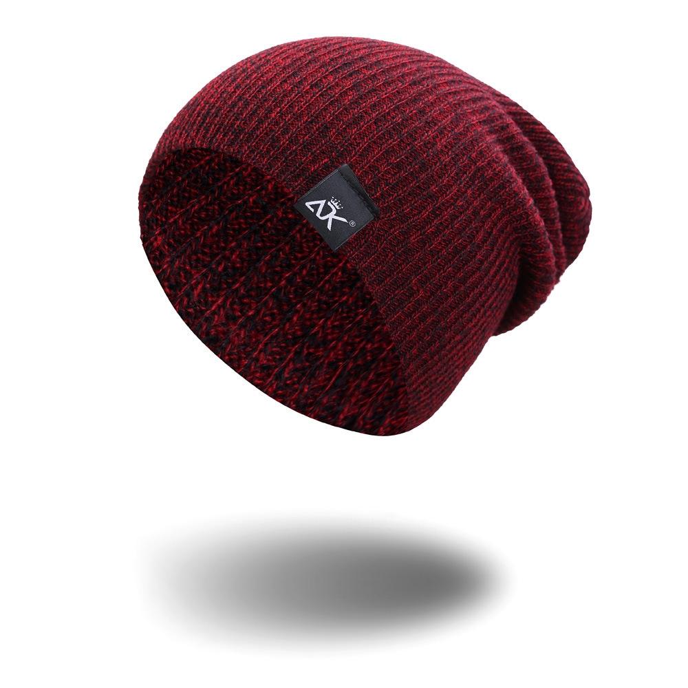 Modern design Silk Men s and women s knitted hats Keep warm fashion ... 8302923b4125