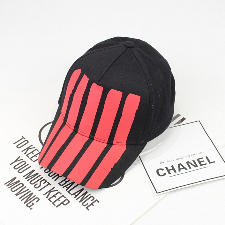 Vertical stripes curved eaves cap men and women baseball cap visor street  hip-hop personality ca14dc6f84