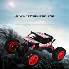 Remote controlled climbing bikeFour-wheel drive off-roadChildren's toy carelectric car blue one size