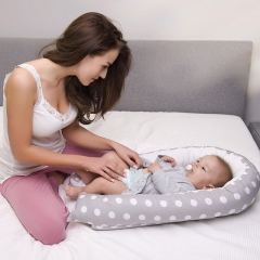 Nice Baby-1 infant bionic bed made of cotton and high molecular material is creative and convenient gray 80cm*50cm