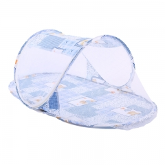 Nice Baby-A Folding bed nets for infants Mosquito Net Palace Net Lace Bed Netting blue 110cm*60cm*40cm