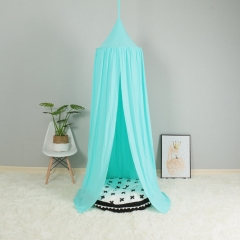 Nordic style children's room decoration tent dome hammock bed curtain blue Height 240 cm