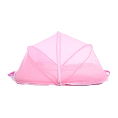Foldable Infant  and With nets Baby Child Pop Up Cot Bed pink 100cm*55cm*50cm