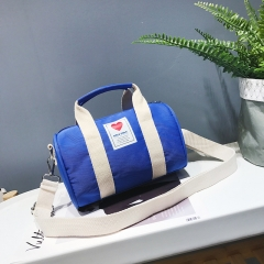 A waterproof children's keg carry-on bag for boys and girls single-shoulder bag small luggage blue 19.5*12*13cm