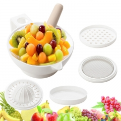 Multi-functional food maker Multi-function grinding bowl baby food grinder set of 7 pieces white About 200ml
