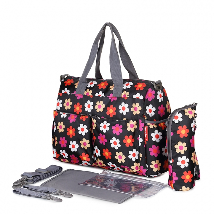 Fashion Life urban series baby diaper bags Multi-function and large capacity blossom 37*16*30cm
