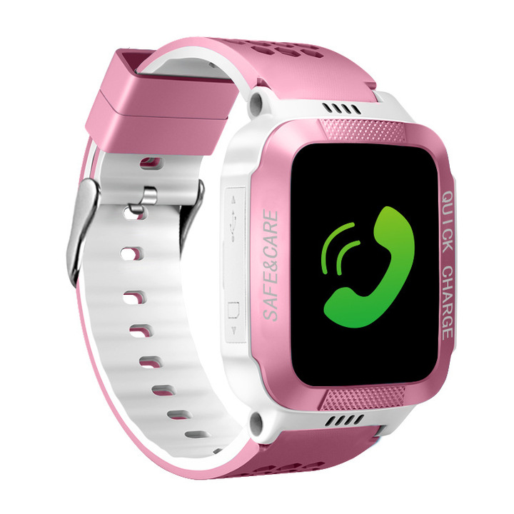 Nice Baby A Multilingual  Kids  Smart Watch gps Smart phone watch for children pink 3.5*4.2*1.5cm
