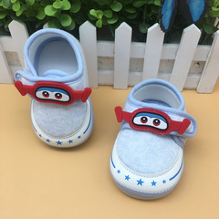 Nice Baby A new pair of baby shoes is suitable for toddlers of 1-12 months blue one size