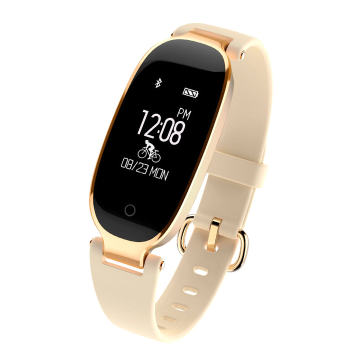 Nice Baby A Waterproof  S3 Smartwatch Heart Rate Monitor Wristband Android IOS golden one size