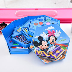 A set of creative children's brush combination stationery 46 color art tools