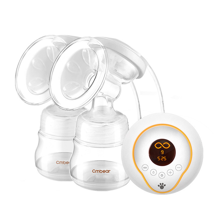 Nice Baby An advanced electric breast pump LCD screen shows lithium batteries Safe material white 28*9.5*21cm
