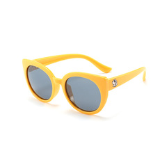 2019 new kids' cute cartoon polarized sunglasses kids' fashion trend sunglasses Yellow 12*12*4.5cm