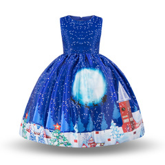 One of the most popular Christmas dresses for girls is the princess Christmas dress blue s