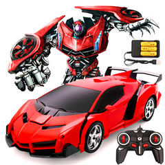 Rechargeable Remote-controlled deformation vehicle Children's favorite transformers Red 30cm*17cm*11cm