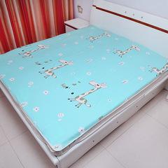 Newborn baby waterproof breathable washable pure cotton baby urine barrier pad nursing mattress blue 30cm*40cm