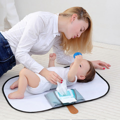 A new style of multifunctional waterproof foldable portable baby diaper pad black 70cm*50cm