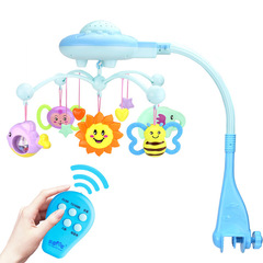 Baby toys 0-3 years old star music rotating projection bed bell baby puzzle infants bedside bell