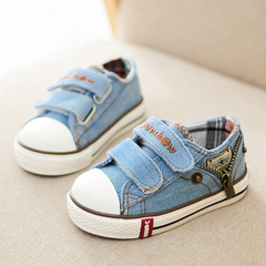 1 pair of girl casual shoes magic stick baby walking shoes small and medium children's shoes blue 23