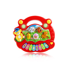 Educational toy electronic piano early education children learn cartoon music toy red 17*15*5cm