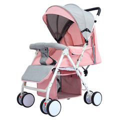 NiceBaby 1 Portable foldable stroller for sitting or lying down High-end strollers pink 67*67*93cm