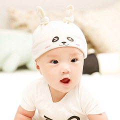 New Designed Cute Baby Hat Cotton Soft Hats and bibs for newborn babies White Hat